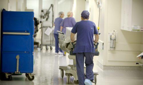 Tallboy Trolley in Hospital
