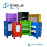 Plastic linen trolleys; commercial laundry trolleys; tallboy linen trolleys