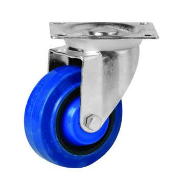 125mm Blue Rubber Swivel Castor