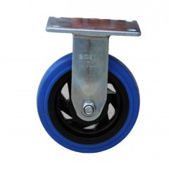 150mm Blue Rubber Fixed Castor