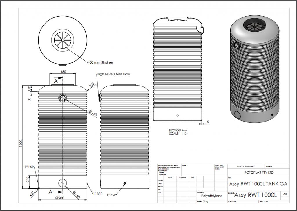 RWT1000 Spec Sheet