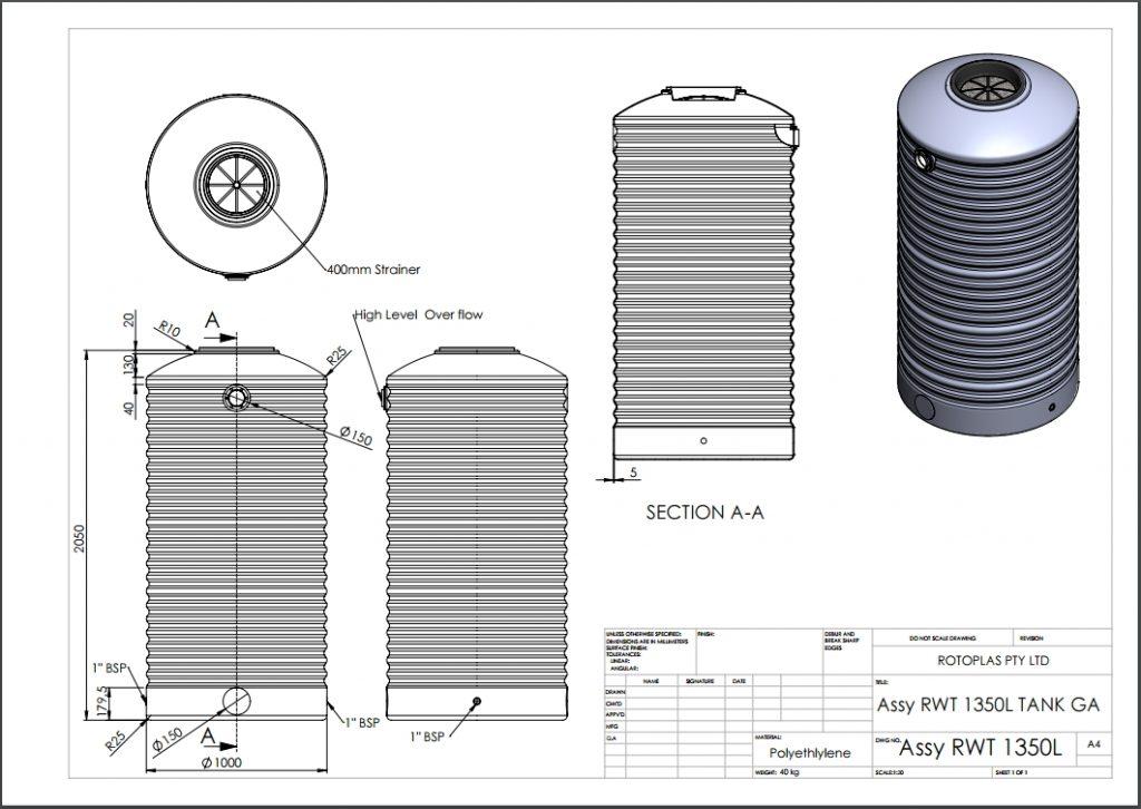 RWT1350 Spec Sheet