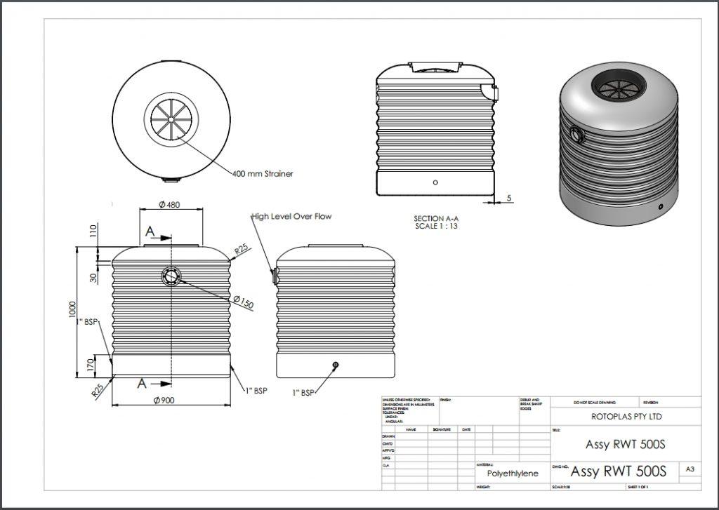 RWT500S Spec Sheet