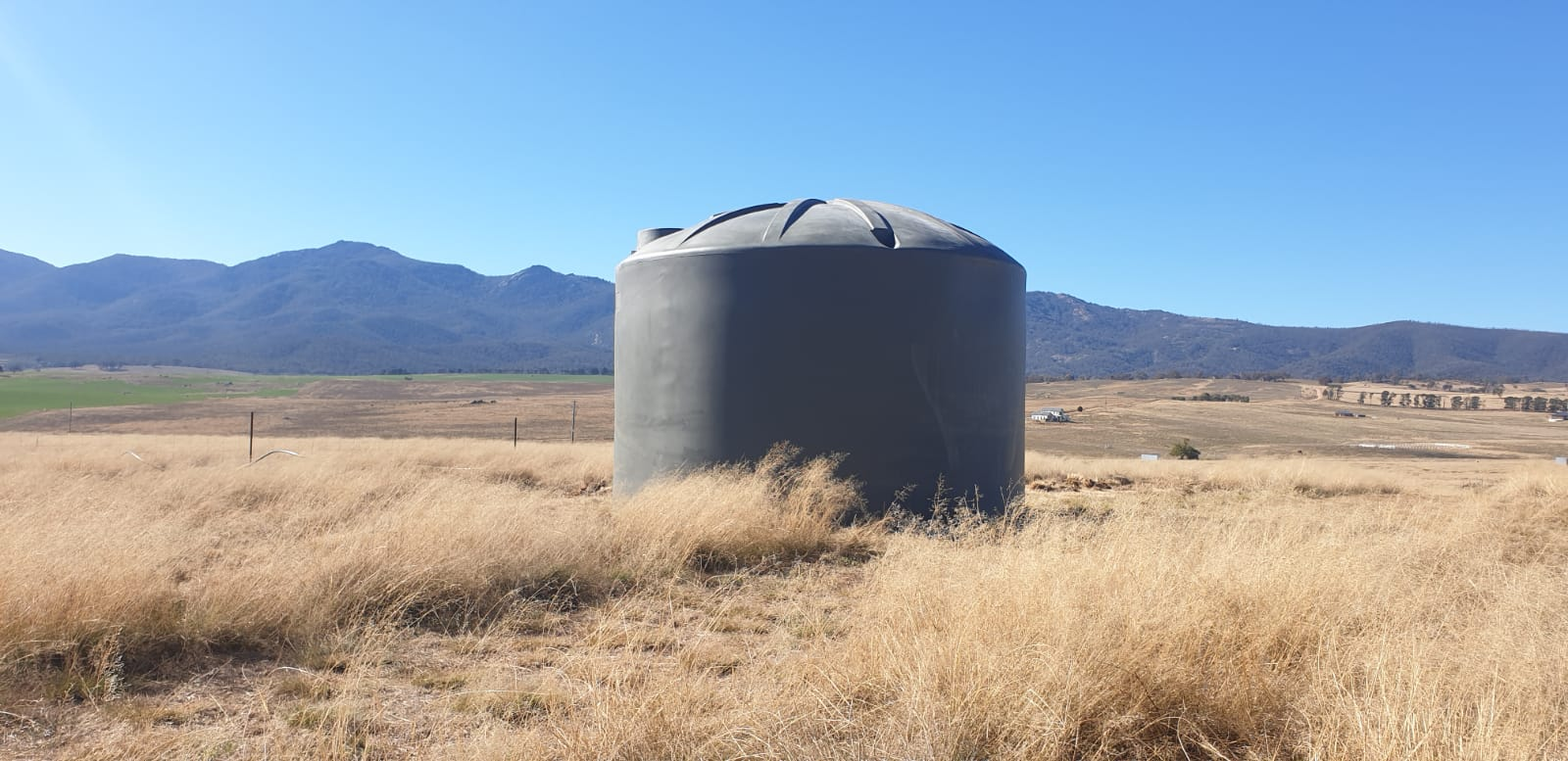 Rainwater Tanks for water conservation are a great tool on rural properties like this one
